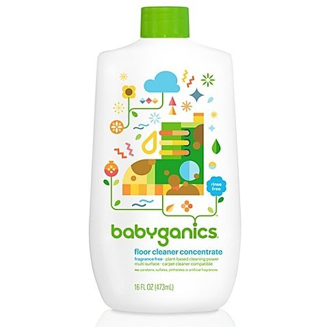 Babyganics Floor Cleaner Concentrate, Fragrance Free 16 oz (473 ml) (pack 1) Concentrate Fragrance