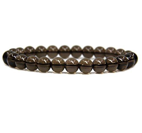 Smoky Quartz Beads (A Grade Smoky Quartz Gemstone 8mm Round Beads Stretch Bracelet 7
