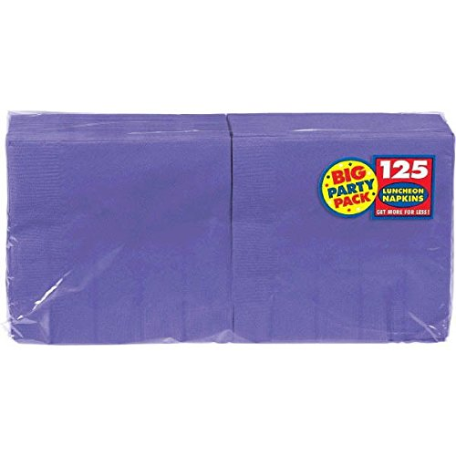 Big Party Pack New Purple Luncheon Paper Napkins, 125 -