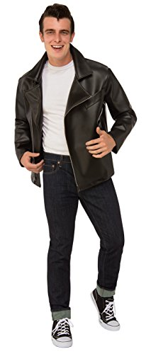 Rubie's Men's Grease, T-Birds Plus Jacket, As Shown, One Size - Adult Licensed Grease