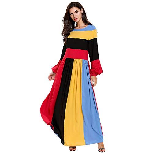 HYIRI Women's Fashion Dress Casual Kaftan Dubai Clothing Women Muslim Islamic (Major Themes Of Of Mice And Men)