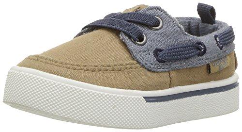 Price comparison product image OshKosh B'Gosh Boys' Albie Boat Shoe,  Khaki,  8 M US Toddler