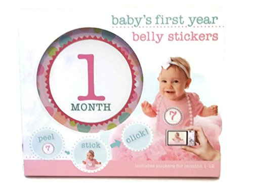 Baby's First Year Belly Stickers for Girls