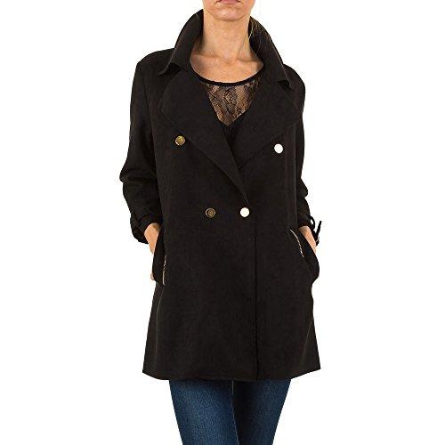 Ital Design Trenchcoat Kurz Mantel Für Damen