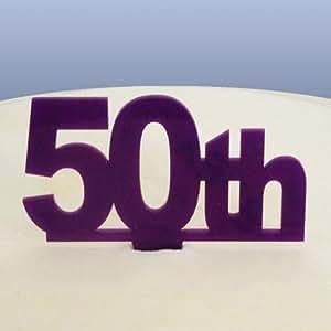 50th Birthday Cake Topper - Purple