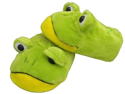 "Plüsch Hausschuhe ""Frosch"" Größe S bis XL"
