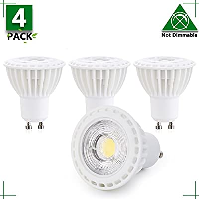 Gu10 5w Led Bulb 45W Equivalent Halogen GU10 Led Flood Light 120V Daylight White 5000K 38 Degree Beam Angle Recessed Light Track Light 500Lm Non-Dimmable 2 YEARS WARRANTY (Pack Of 12)