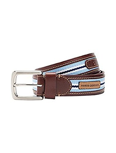 Jack Mason Brand Men's North Carolina Tailgate Belt - Size 42 (JMU-2006-NC-42)