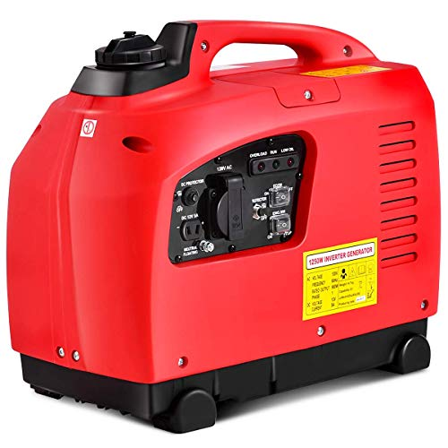 Goplus Gas-Powered Inverter Generator Portable Digital 4 Stroke 53cc Single Cylinder CE, GS, CARB & EPA Compliant (1250W)