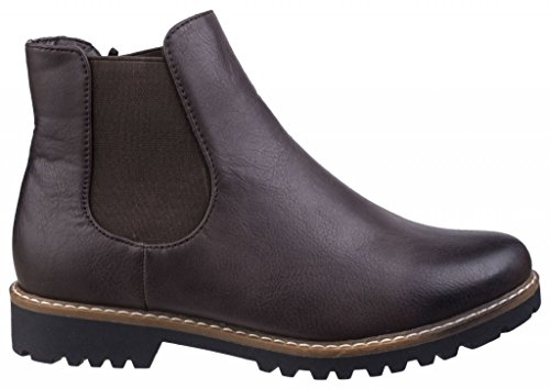 Chelsea Boots Ladies Brown GRACE Divaz Faux Leather Brown PB5IwXq