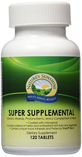 NATURE'S SUNSHINE Super Supplemental Tablets, 120 Count (Nature Sunshine Multivitamin compare prices)