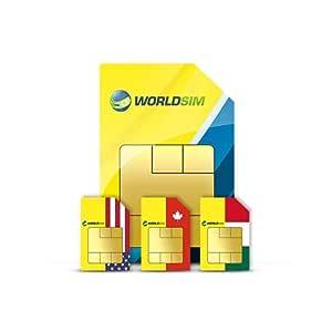 WorldSIM USA/Canada/México Tarjeta SIM Incluye crédito ...