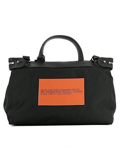 Calvin Klein Borsa Messenger Uomo 74MLBA36001 Tessuto Nero