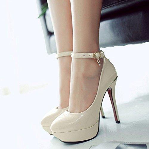 3 Shoes Zanpa Classic Beige Women Heels Platform wqCHIX
