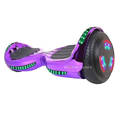Hoverboard UL 2272 Certified Flash Wheel 6.5'' Bluetooth Speaker with LED Light Self Balancing Wheel Electric Scooter (Chrome Violet) by Hoverheart