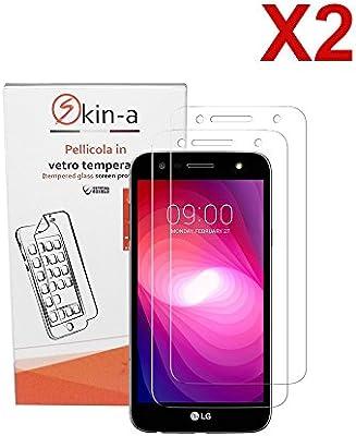 skin-a® X2 Pack Protector de pantalla de cristal templado para LG ...