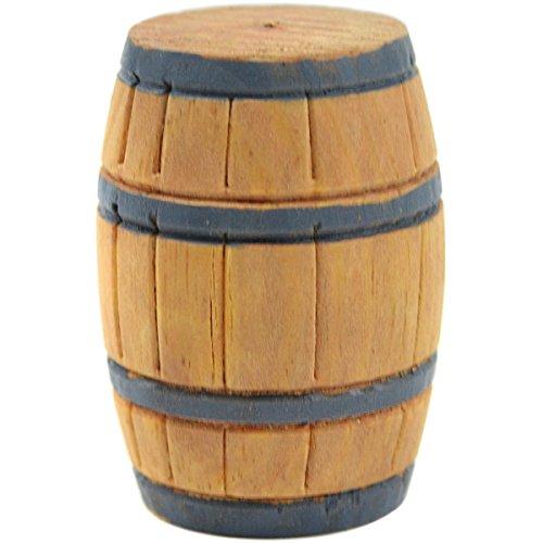Touch of Nature Mini Fairy Garden Barrel, 1.3 by 2-Inch, Brown (Barrel Furniture Garden Wine)