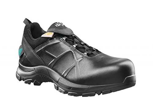 Mens Black Haix Black Eagle Safety 52 Low Waterproof Leather Boots 620002 Medium 10.5
