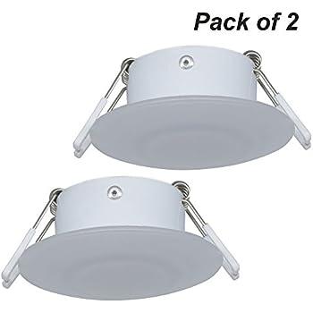 Facon 3 Inch LED RV Puck Light Recessed Mount Down Light 12V Interior Light for RV Motor-homes Camper Caravan Trailer Boat
