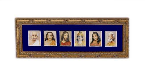 Srf Gurus Gold Framed Altar