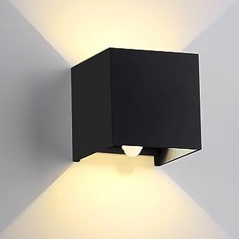 Erwei - Lámpara de pared LED con detector de movimiento para exterior, resistente al agua