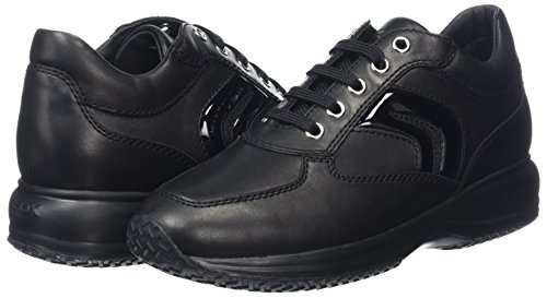 Casual Happy D7356B Scarpe Nero C9999 Donna 00039 D in Geox Pelle aqFPET