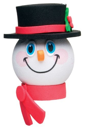 Quantity 2 pcs pack - Tenna Tops Frosty Snowman Car Antenna Topper / Antenna Ball / Car Mirror (Snowman Antenna)