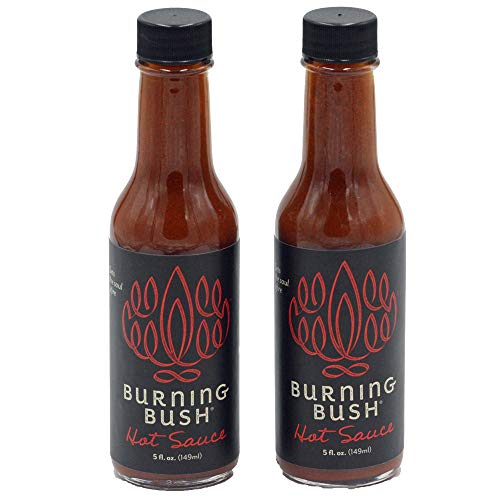 Burning Bush Hot Sauce fuses heat with flavor in its unique blend of chilies and ancient herbs from the Holy Land, Vegan, Kosher, GF, 2 Bottles