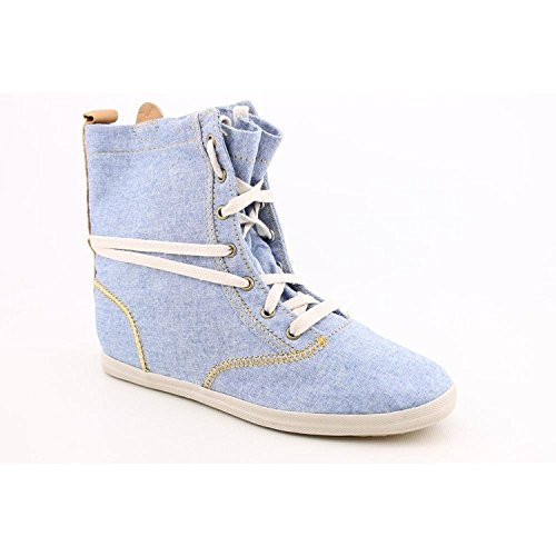 Keds Womens Champion January Boots, Fashionable, Stylish Canvas / Textile Uppers and Rubber Sole Chambray/Blue