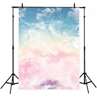 Funnytree vinyl 5x7ft childrens photography backdrop background pink Sky rainbow cloud wonderland family birthday party banner Newborn Photographic studio prop props photo studio booth