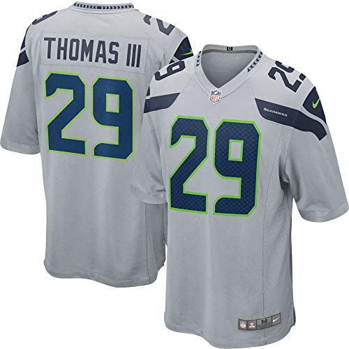Nike Earl Thomas III Seattle Seahawks NFL Youth 8-20 Gray Alternate On-Field Player Jersey (Youth Large 14-16) ()