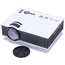 Rienar Multi-media 800 Lumens Portable Hd LED Projection Micro Projector Cinema Theater,Support PC Laptop With,HDMI,SD,USB,AV Input,for iphone,galaxy,laptop,mac.