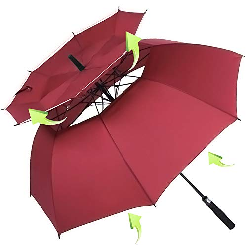 ZOMAKE Vented Sun Umbrella – Golf Umbrella Windproof Large 62 inch Double Canopy Automatic Open Umbrella for Men – Stick Umbrellas Review