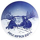 Bing & Grondahl 1902214 Christmas Plate 2014, Sledge in the snow