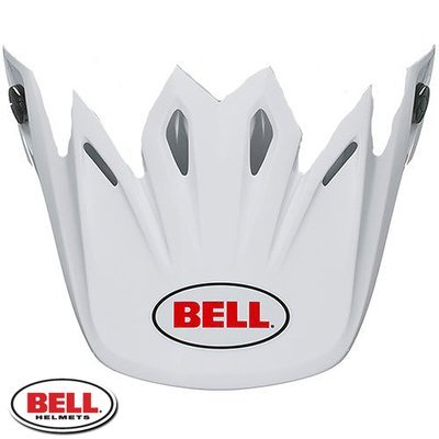 Bell Moto-9 Flex Solid Visor Street Motorcycle Helmet Accessories - White/One Size