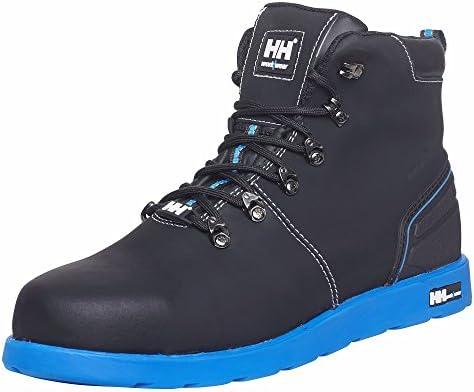 Helly Hansen Workwear S3 Frogner 78252 – Botas de seguridad de piel, muy a la moda, color negro, 45, negro / naranja