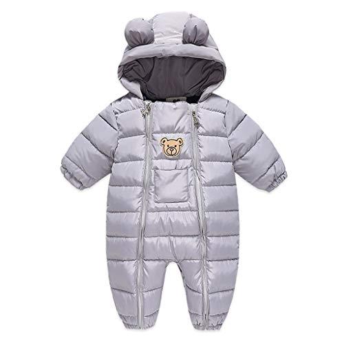 WYTbaby Sneeuwpak voor baby's, winteroverall met capuchon, voor jongens en meisjes, speelpak
