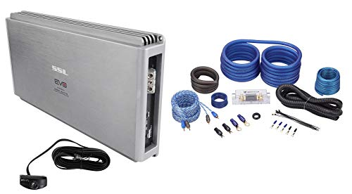 SSL EVO5000.1 5000W Class D 1 Ohm Stable Mono Car Amplifier+Bass Remote+Amp Kit