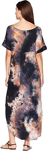 Short Tie Sleeve Maxi Dress Kiley American Dye Rose Navy Womens Zwpvwqf4