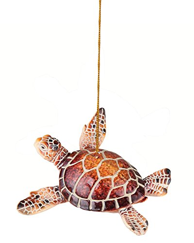 Cozumel Reef Sea Turtle Hanging Christmas Ornament