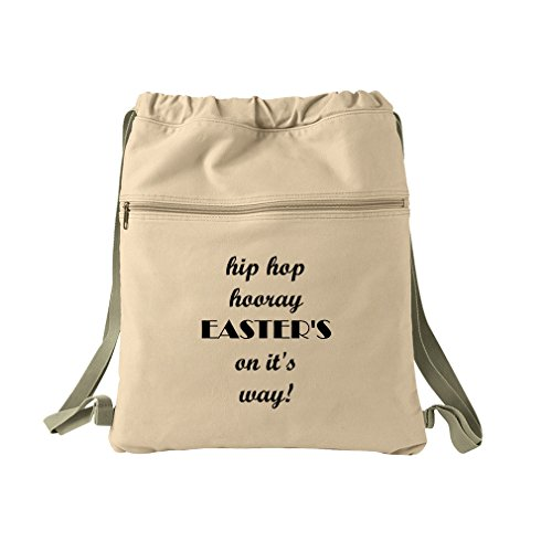 Hip Hop Hooray Easter'S On It'S Way! Canvas Dyed Sack Backpack Bag by Style in Print