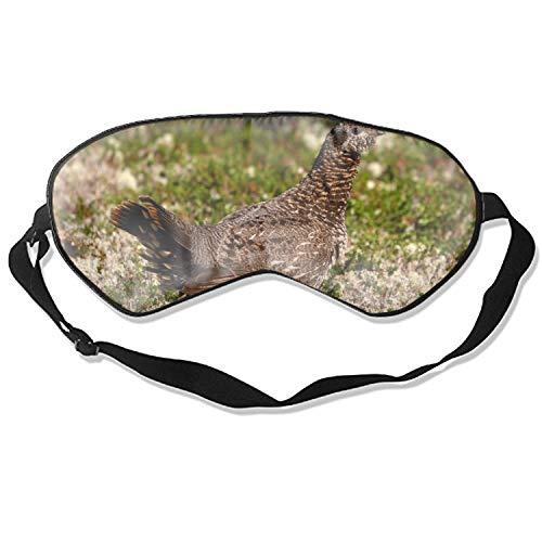 (Sleeping Eye Mask Brown Thunderbird Print Natural Silk Eye Mask Cover with Adjustable Strap)
