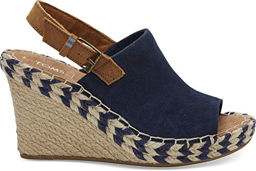 TOMS Women's Monica Navy Suede/Leather 7.5 B ()