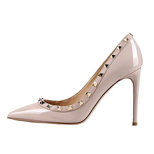 vestir Zapatos de Material mujer Natural Lackleder para de Sintético MERUMOTE qaExdq