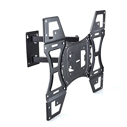 - Sunydeal TV Wall Mount Corner Bracket for Most 12-55 inch LCD LED Plasma Flat Panel Smart TV PC Monitor up to 79 lbs, VESA 400x400mm with Full Motion Swivel Articulating 20 inch Extension Arm