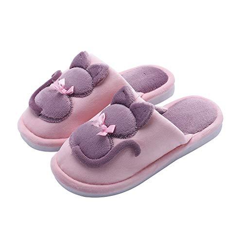 Colore Dell'interno Sveglie Caldo Pantofole Cotone Di Fumetto Colpito Grigio Qsy Il Le Delle Hanno Del Shoe qwXOWU
