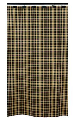 (Tartan Design by IHF Home Decor 100-Percent Cotton Fabric 72 x 72 Inch Bathroom Shower Curtain )