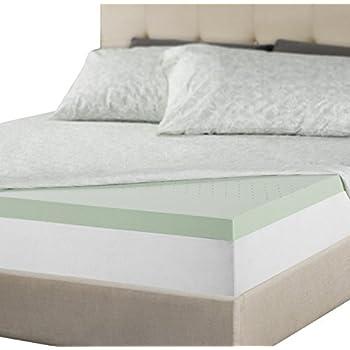 Zinus 2 Inch Green Tea Memory Foam Mattress Topper, King