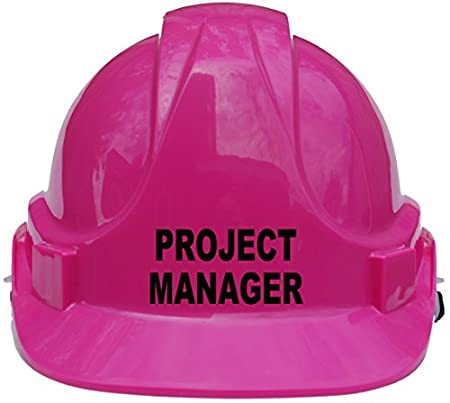 Project Manager Children, Kids Hard Hat Safety Helmet with Chin Strap One Size Adjustable Suitable for 4-12 Years -Pink Acce Products