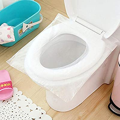 MOGOI Disposable Toilet Seat Covers Waterproof Kids Potty Protectors for Camping Travel Bathroom Public Toilet Users 20 Pack Extra Large Size Potty Seat Cover